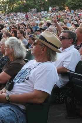 The crowd enjoys another great concert at The Cuthbert Amphitheater