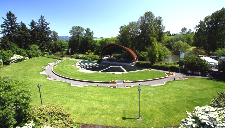 The Cuthbert Amphitheater, after renovations for the 2009 season, is now the Jewel of the Willamette Valley.