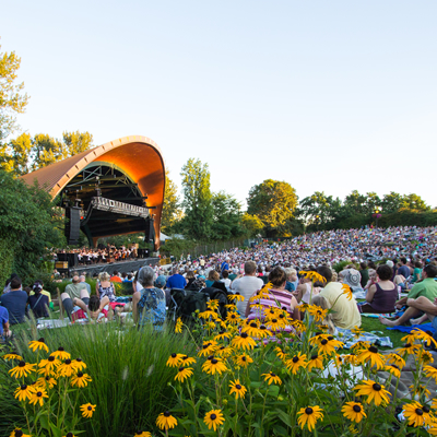 Eugene Symphony live outdoors at The Cuthbert Amphiteater in Eugene, Oregon on July 24, 2021