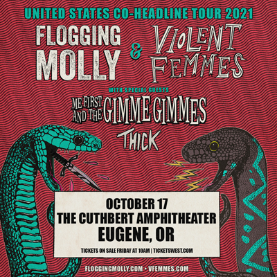 Flogging Molly & Violent Femmes at The Cuthbert Amphitheater in Eugene, Oregon on October 17, 2021